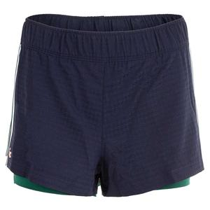 Women`s Side Panel Tennis Short with Inset Navy Blue and Swing