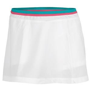 Women`s Shela Tennis Skirt White and Green