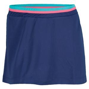 Women`s Shela Tennis Skirt Midnight and Green