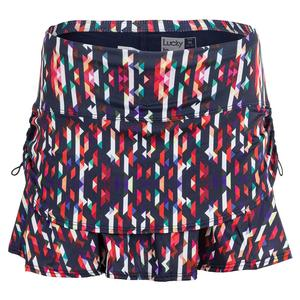 Women`s Bermuda Ruche Tennis Skort Multicolor