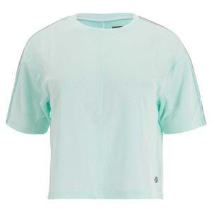Women`s Loose Tennis Top White and Ice Green