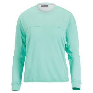Women`s Post Game Tennis Pullover Ice Green