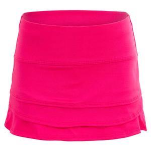 Girls` So Much Fun Tennis Skort with Back Pocket Shocking Pink