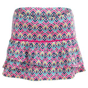 Girls` Diamond Girl Tennis Skort Shocking Pink