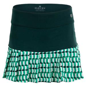 Women`s All That Flutters Tennis Skort Retros in Geos and Opal Combo