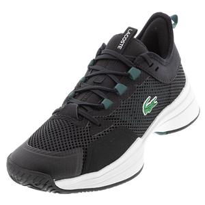 Women`s AG-LT 21 Tennis Shoes Black and Dark Green