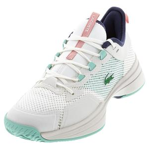 Women`s AG-LT 21 Tennis Shoes Off White and Light Blue