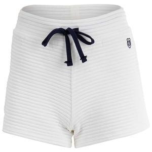 Women`s Side Line Rib Tennis Lounge Short Bright White