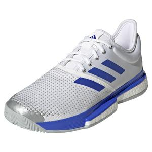 Men`s SoleCourt Primeblue Tennis Shoes Footwear White and Sonic Ink