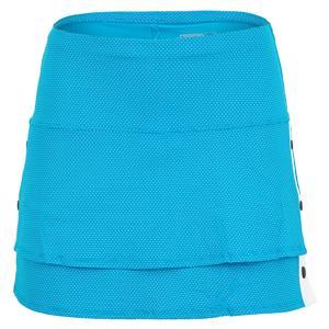 Women`s Long Snap To It Tennis Skort Turquoise
