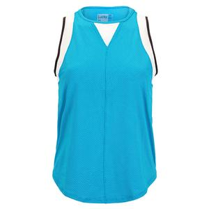 Women`s Chill Out Tennis Tank Turquoise