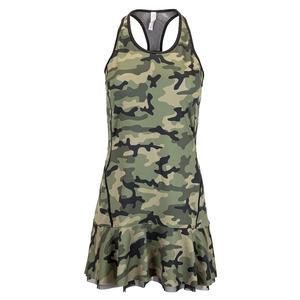 Women`s Bridget Tennis Dress Camo and Black