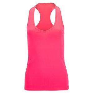 Women`s Basic BB Tennis Tank Top Pink Fluor