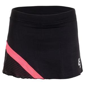 Women`s Kandy Tennis Skort Black and Pink