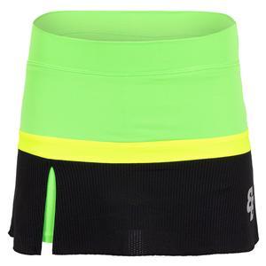 Women`s Morgan Tennis Skort Yellow and Lime