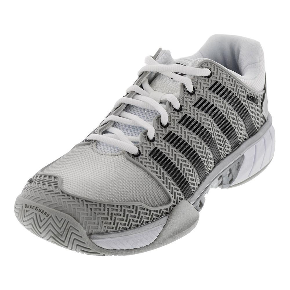 uk availability a1efa 2edd9 K- Swiss Men s HyperCourt Express Tennis Shoes Glacier Gray and White