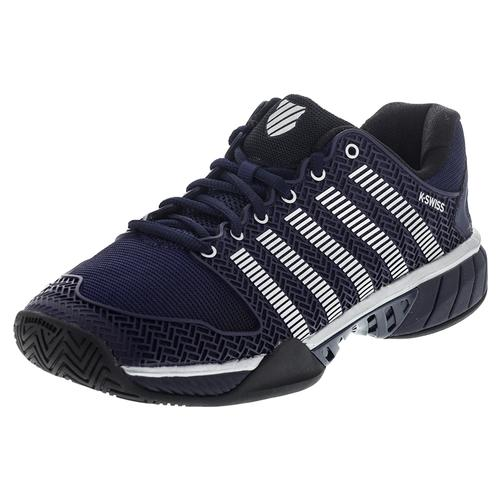 Men's Hypercourt Express Tennis Shoes Navy And Silver