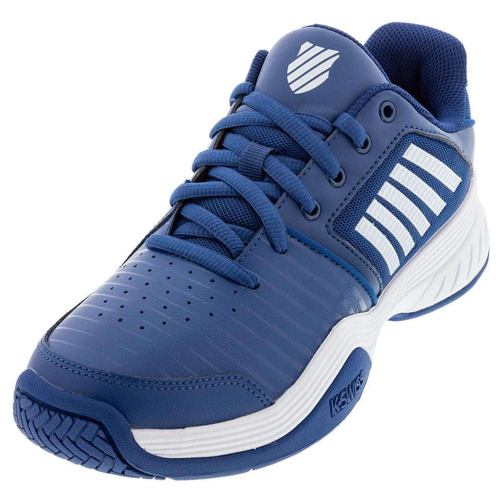 Men's Court Express Tennis Shoes Dark Blue And White