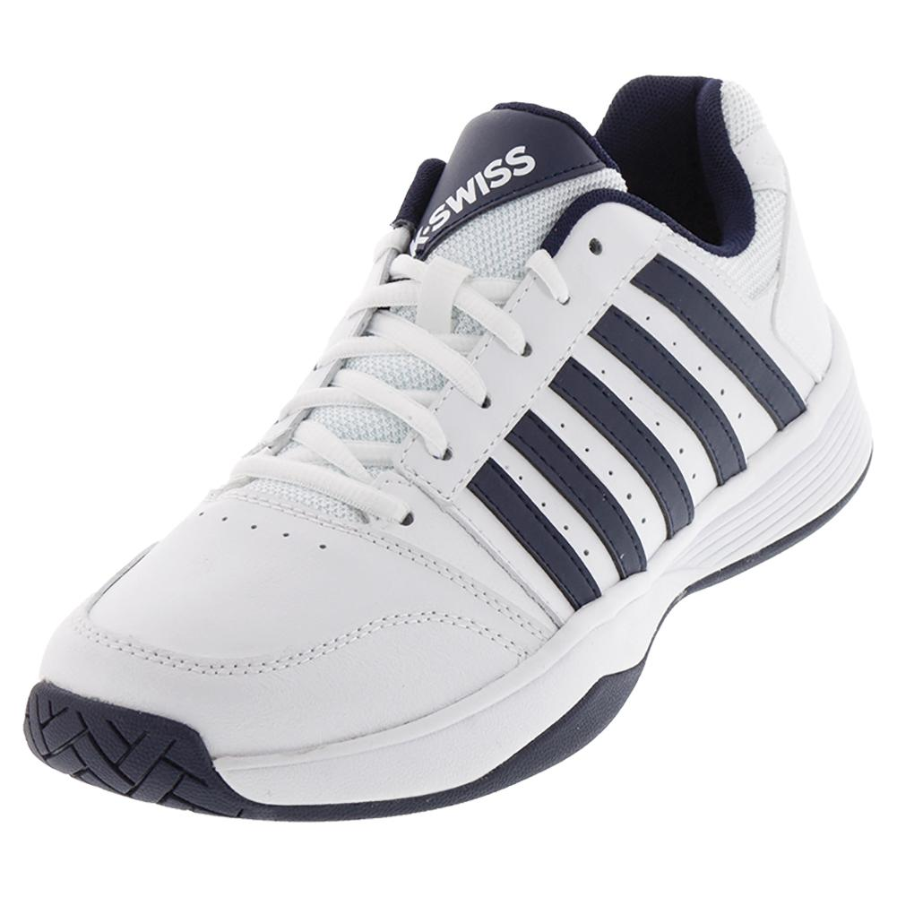 Men's Court Smash Tennis Shoes White And Navy