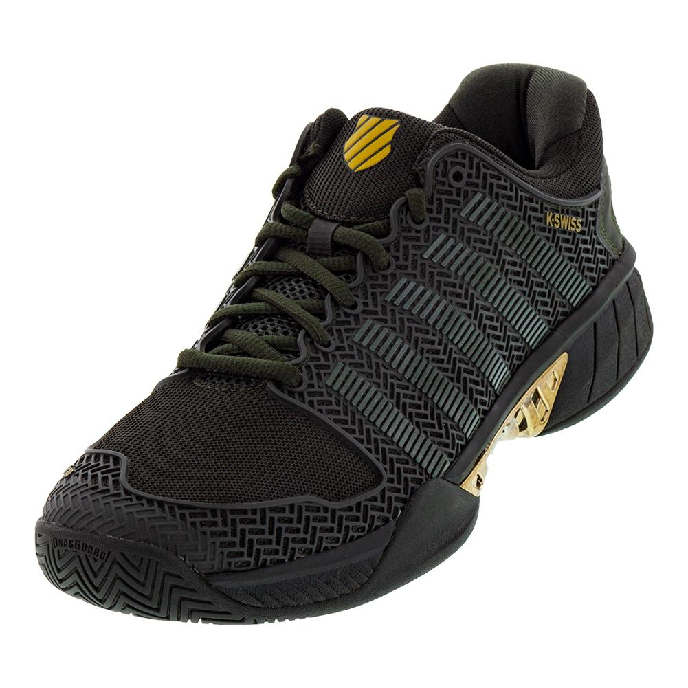 Men's Hypercourt Express Se Tennis Shoes Black Ink And Gold