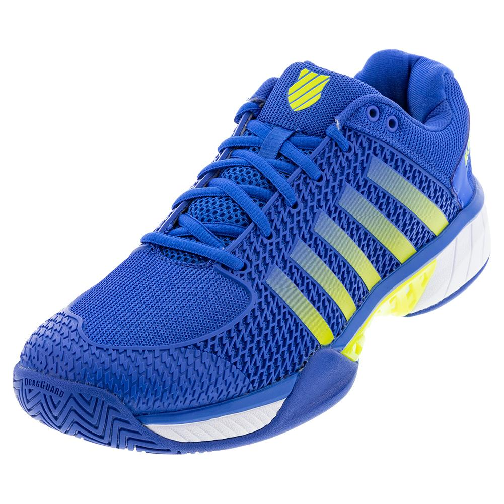Men's Express Light Pickleball Shoes Strong Blue And Neon Citron