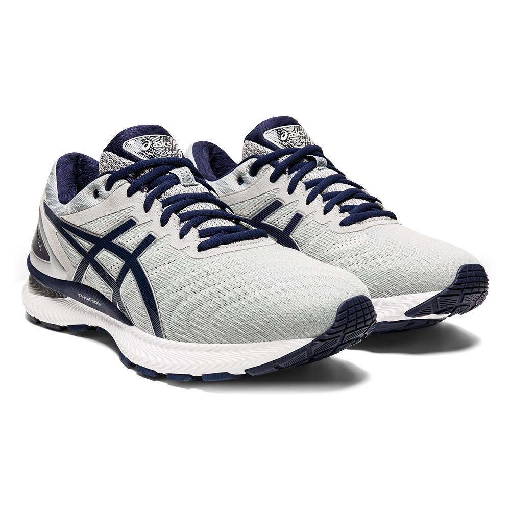Men's Gel- Nimbus 22 Running Shoes Piedmont Gray And Peacoat