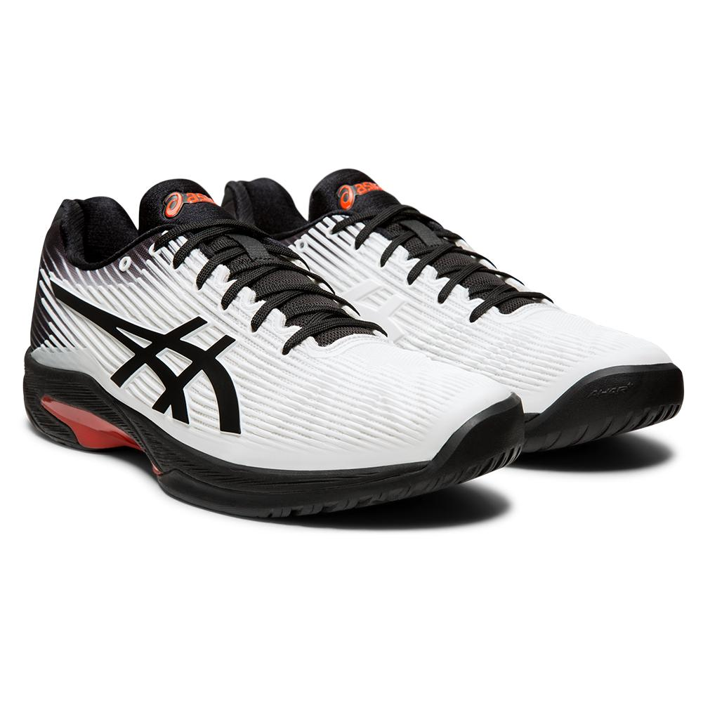 Men's Solution Speed Ff Tennis Shoes White And Black