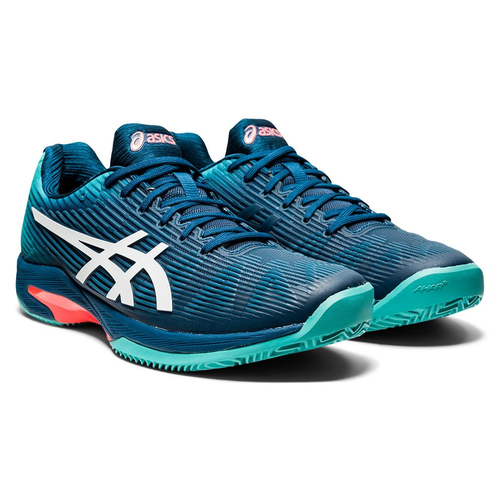 Men's Solution Speed Ff Clay Tennis Shoes Mako Blue And White