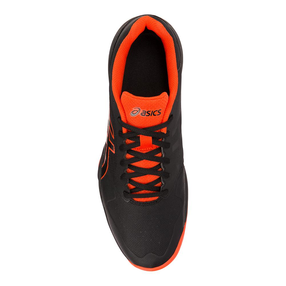 best service bf727 6090b Men s Gel- Game 7 Tennis Shoes Black And Cherry Tomato. Hover to zoom click  to enlarge. 360 View