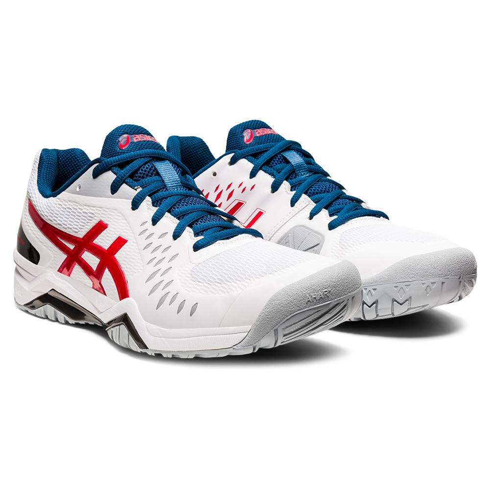 Men's Gel- Challenger 12 Tennis Shoes White And Classic Red