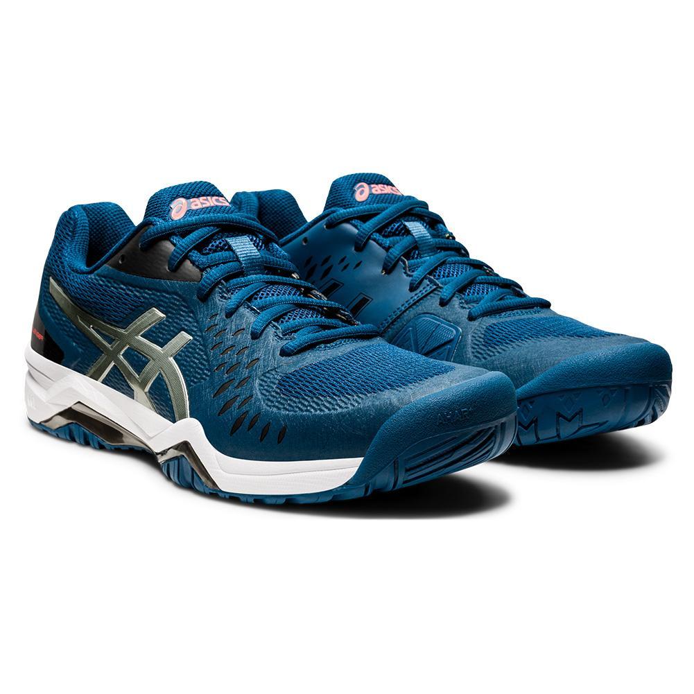 Men's Gel- Challenger 12 Tennis Shoes Mako Blue And Gunmetal