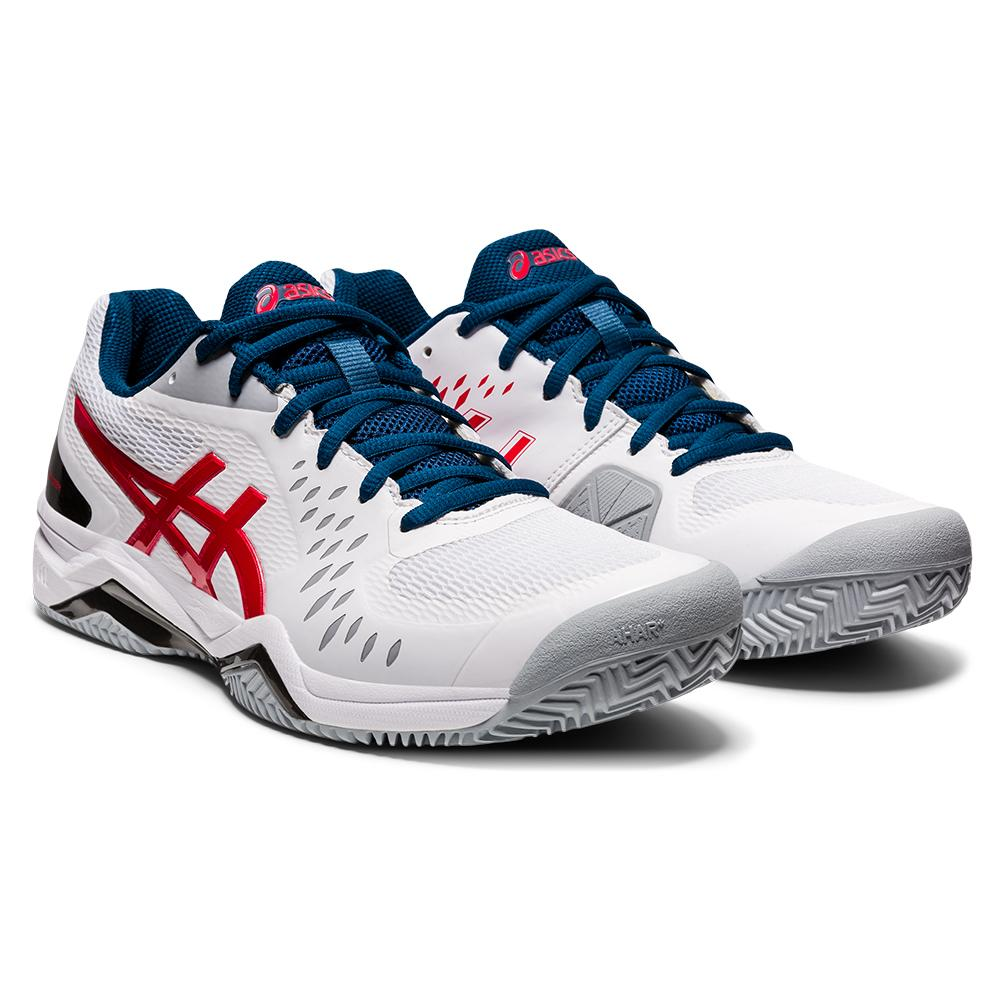 Men's Gel- Challenger 12 Clay Tennis Shoes White And Classic Red