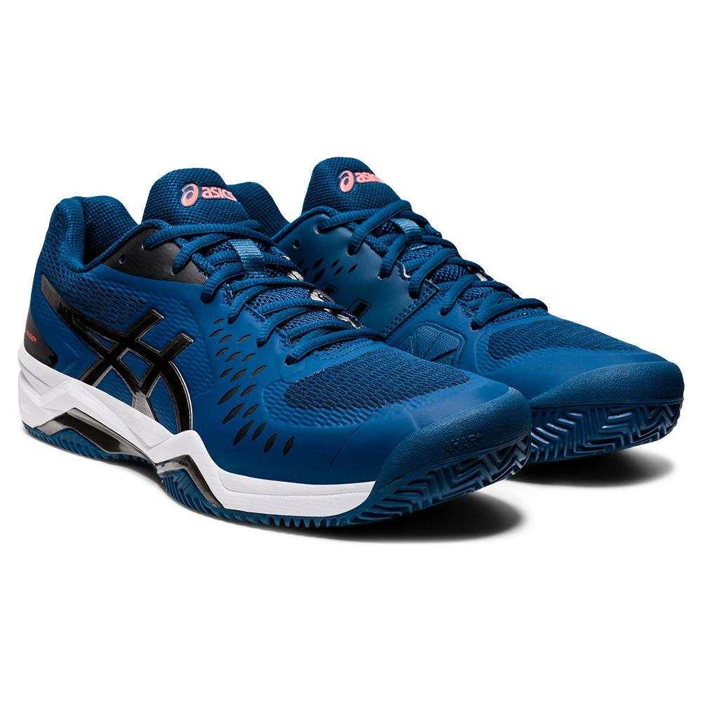 Men's Gel- Challenger 12 Clay Tennis Shoes Mako Blue And Gunmetal