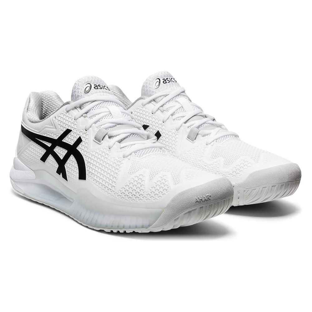 Men's Gel- Resolution 8 Tennis Shoes White And Black
