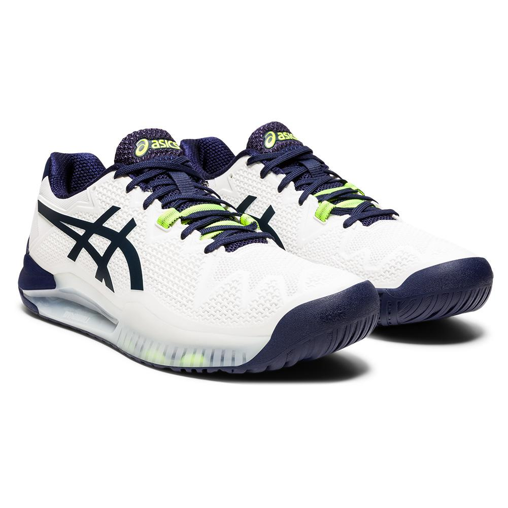 Men's Gel- Resolution 8 Tennis Shoes White And Peacoat