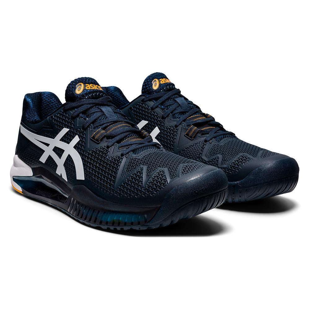 Men's Gel- Resolution 8 Tennis Shoes French Blue And White