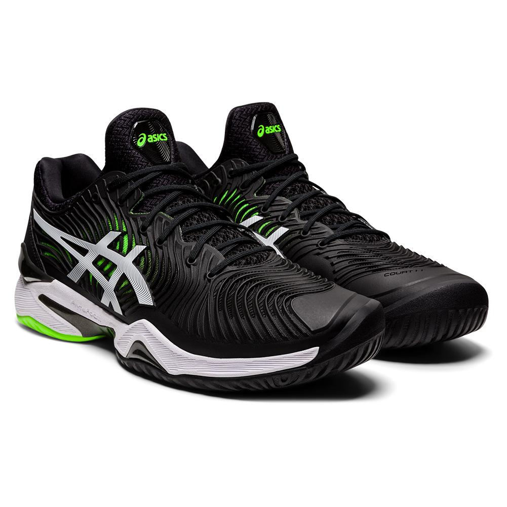 Men's Court Ff 2 Tennis Shoes Black And Green Gecko