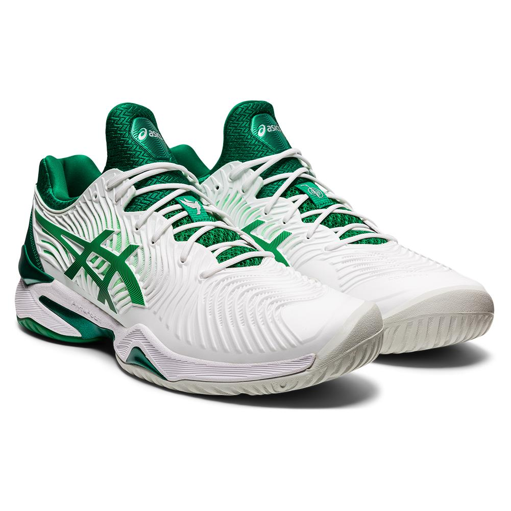 Men's Court Ff Novak Tennis Shoes White And Kale