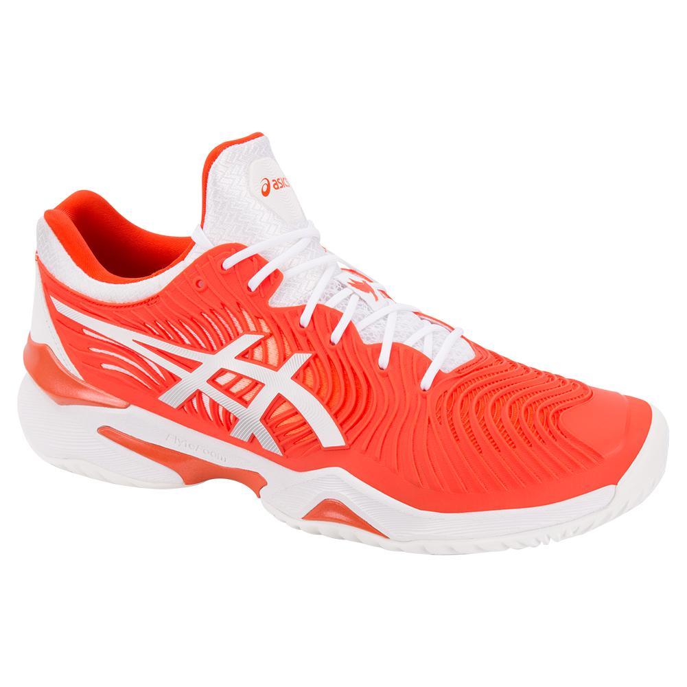 Men's Court Ff Novak Tennis Shoes Cherry Tomato And White