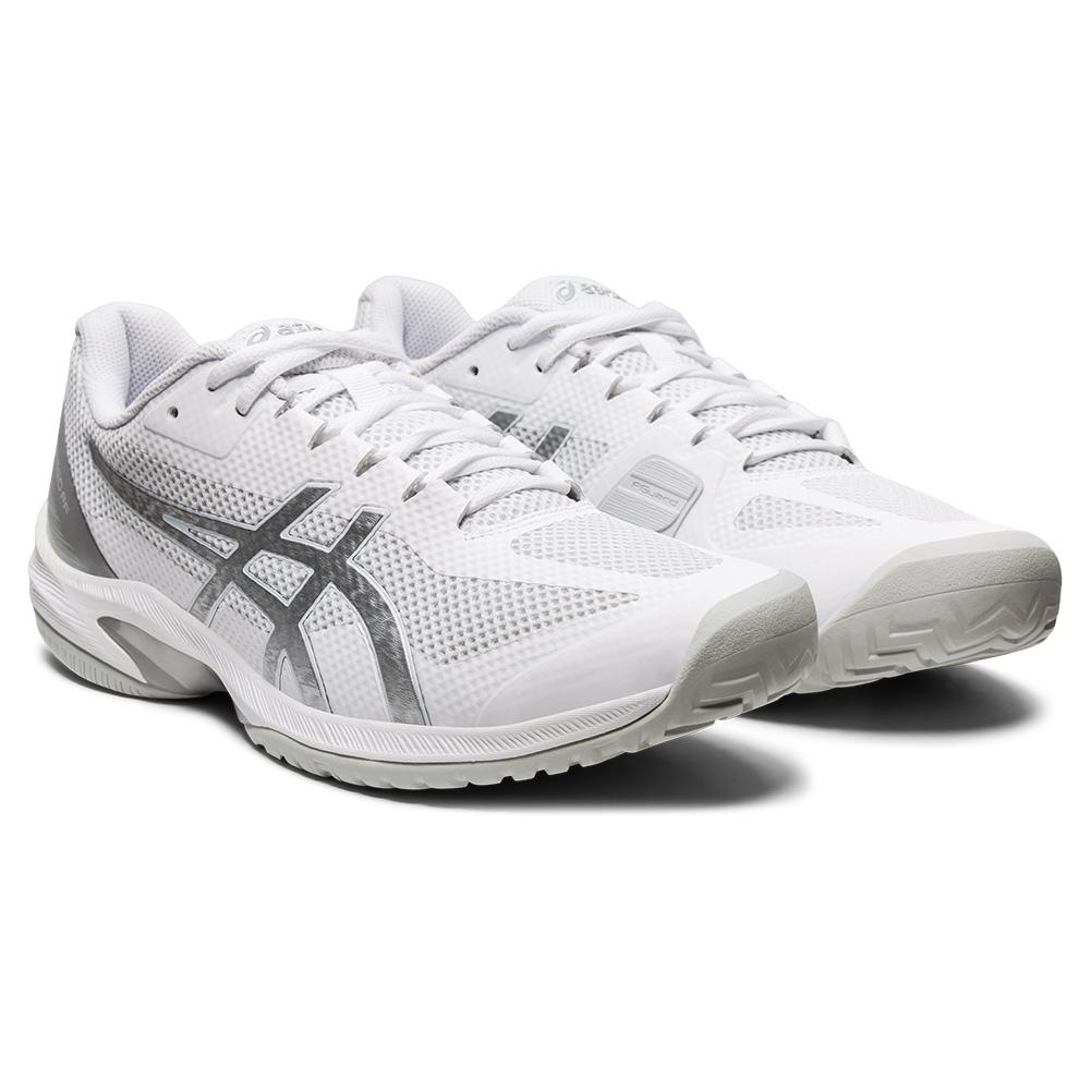 Men's Court Speed Ff Tennis Shoes White And Pure Silver