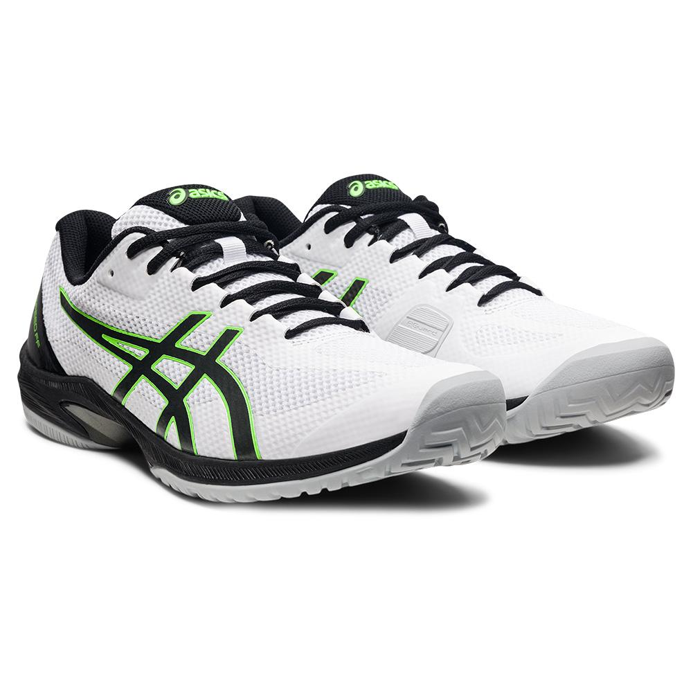 Men's Court Speed Ff Tennis Shoes White And Gunmetal