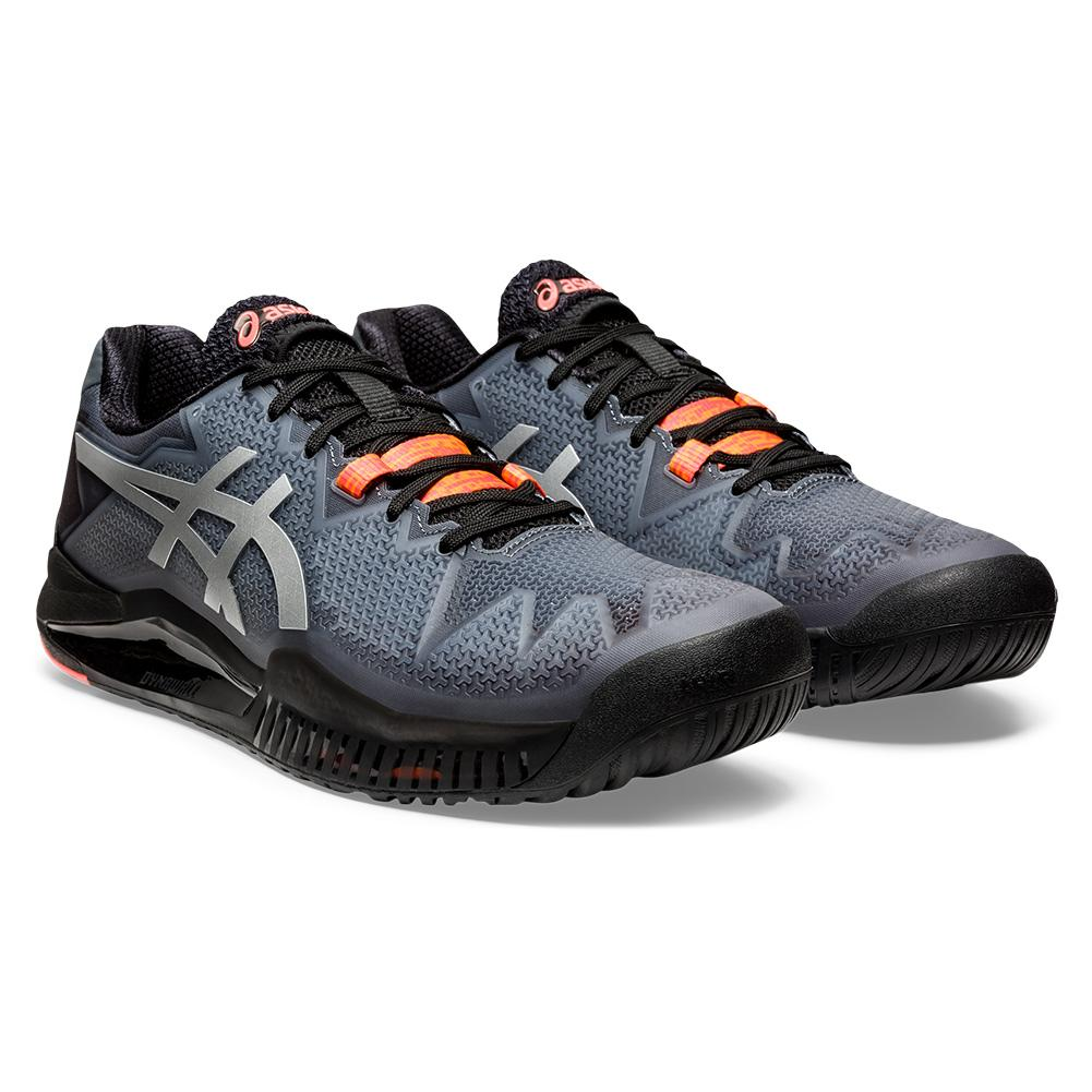 Men's Gel- Resolution 8 Le Future Tokyo Tennis Shoes Black And Sunrise Red