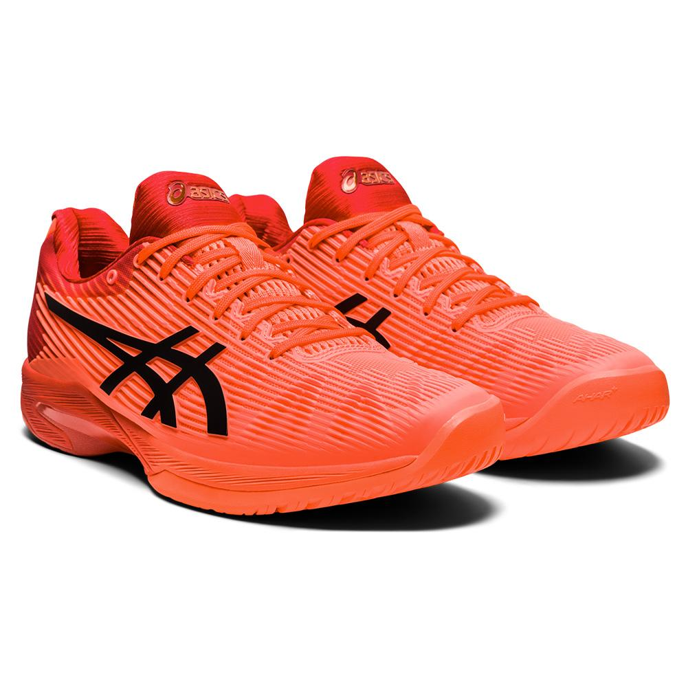 Men's Solution Speed Ff Tokyo Tennis Shoes Sunrise Red And Eclipse Black