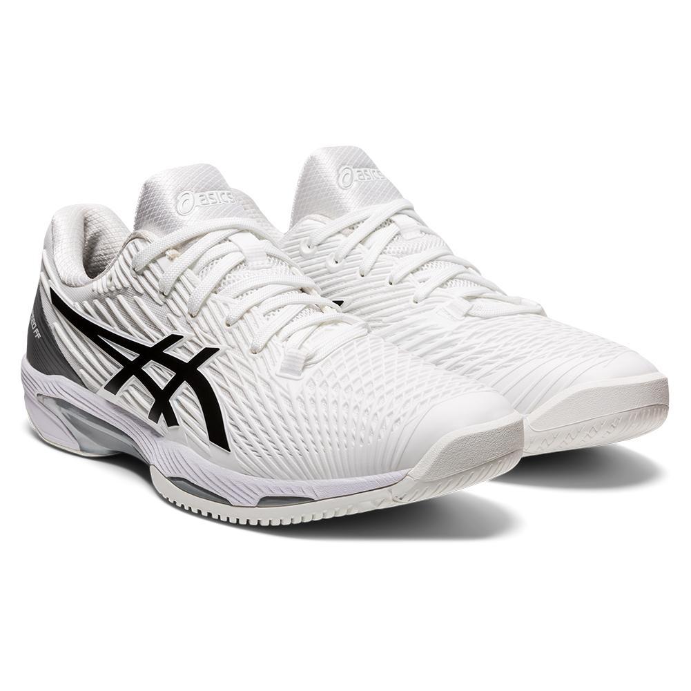 ASICS Men`s Tennis Shoes | Solution Speed FF 2 in White & Black ...