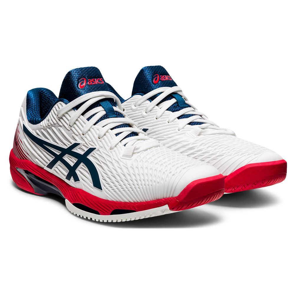 Men's Solution Speed Ff 2 Tennis Shoes White And Mako Blue
