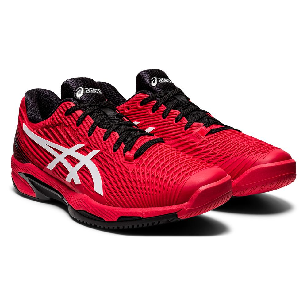 Men's Solution Speed Ff 2 Tennis Shoes Electric Red And White