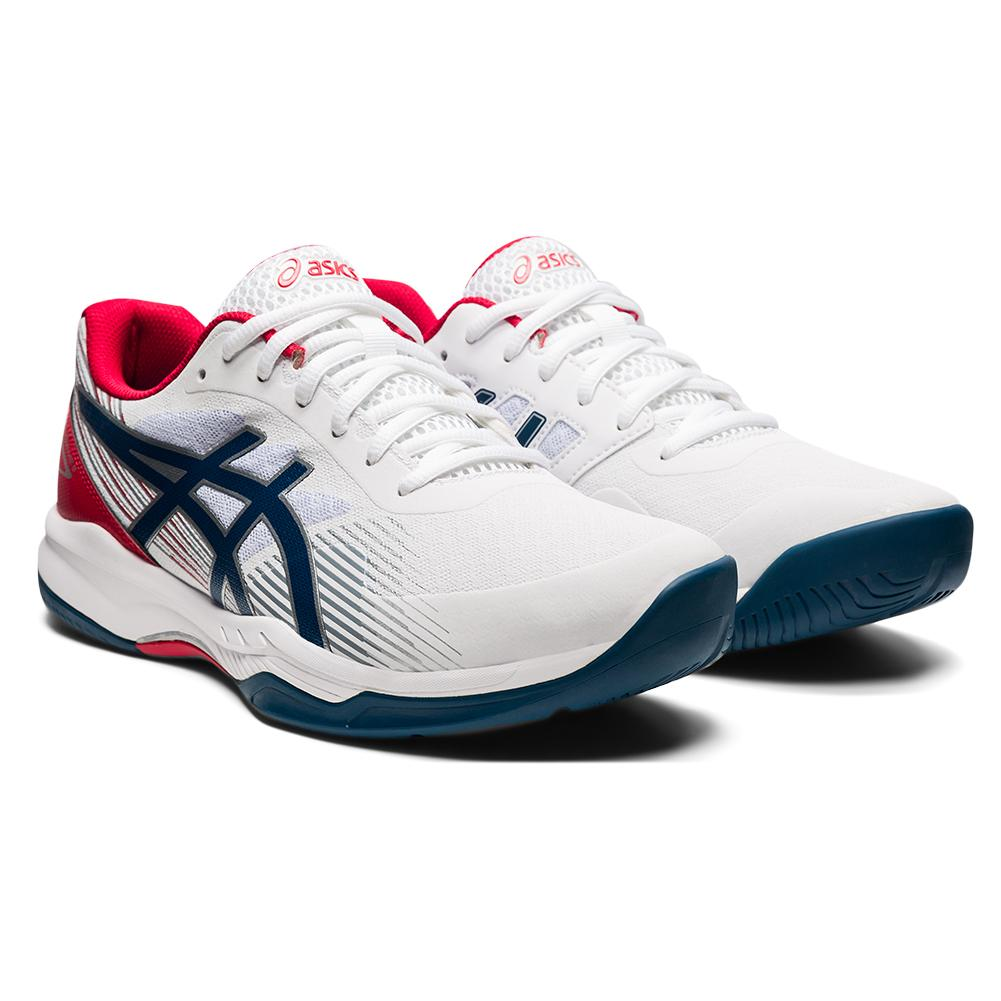 Men's Gel- Game 8 Tennis Shoes White And Mako Blue