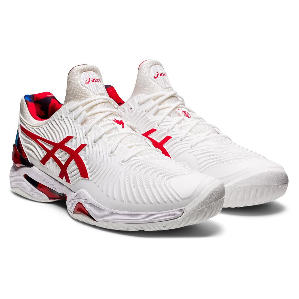 Men's Court Ff Novak Le Tennis Shoes White And Classic Red