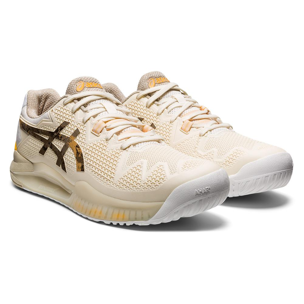 Men's Gel- Resolution 8 Le Tennis Shoes Cream And Putty
