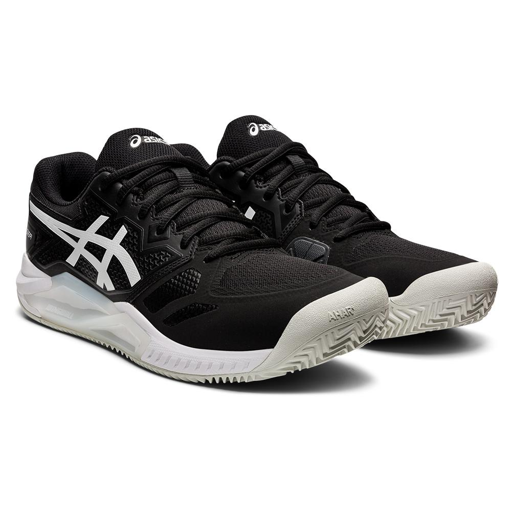 Men's Gel- Challenger 13 Clay Tennis Shoes Black And White
